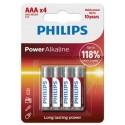 Pila alcalina lr03 (aaa) philips power alkaline