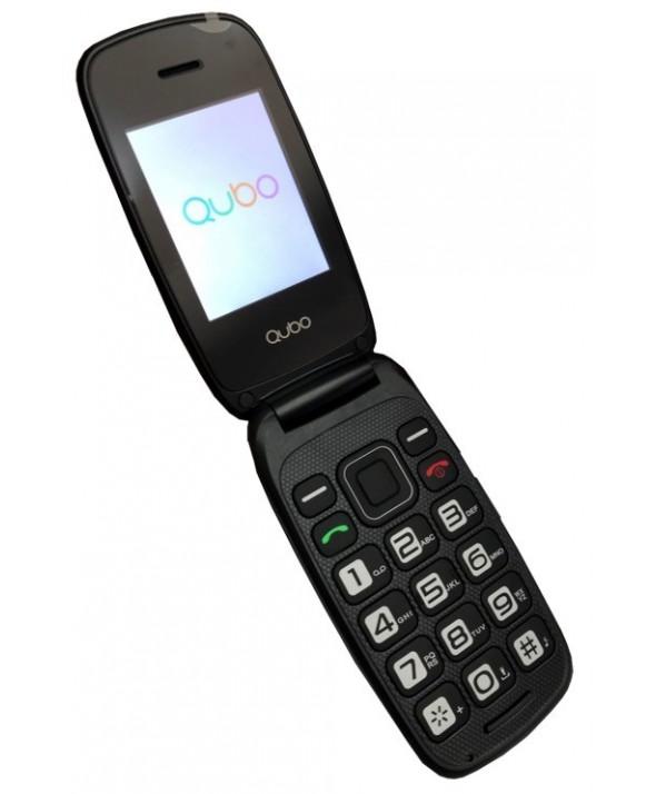 Telefono movil concha qubo neo negro con base
