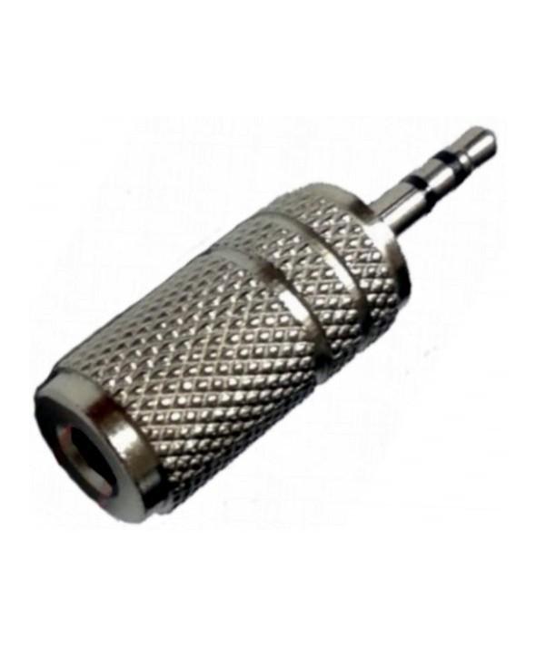 Adaptador jack 2.5 st/m a 3.5 st/h metal