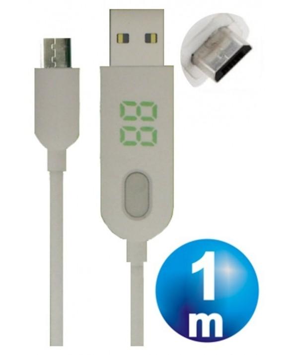 Cargador temporizador micro usb 2a 1m dexler 18013