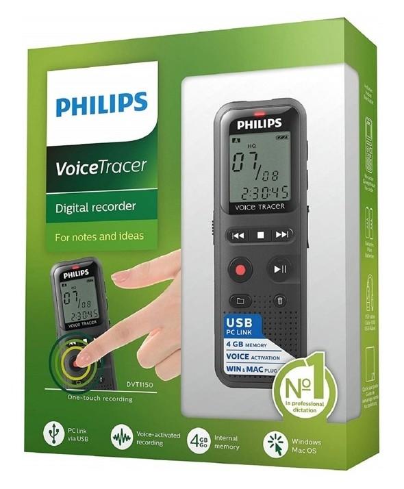 Grabadora philips digital 4gb conexion usb