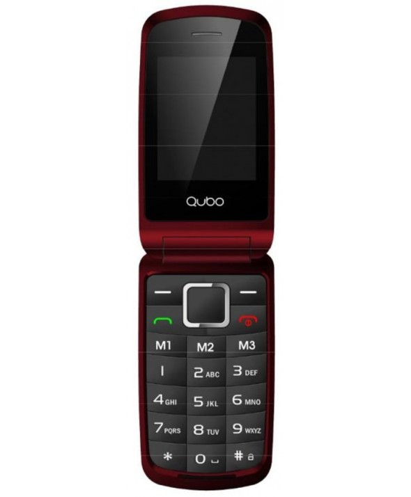 Telefono movil concha 2 pantallas qubo osiris rojo