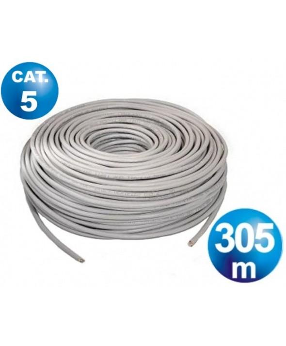 Bobina 305 m cable telefonico cat.5 utp rigido