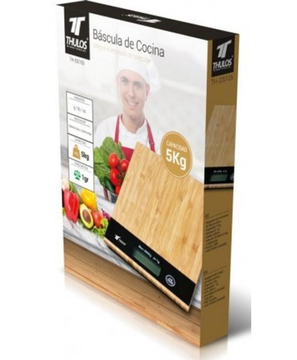 Bascula de cocina 1 g a 5 kg madera thulos