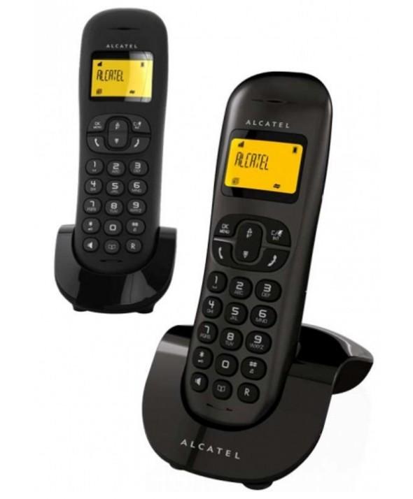 Telefono inalambrico duo alcatel m/l negro