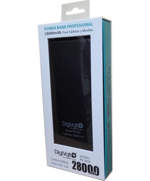 Bateria universal usb 28000 mah digivolt