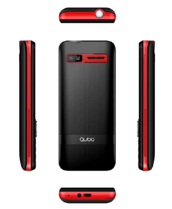 "Telefono movil qubo 2.4"" 2 simm 32mb 2500mah rojo"
