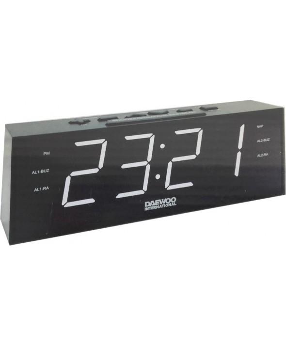 Radio despertador gran pantalla 30 memorias daewoo
