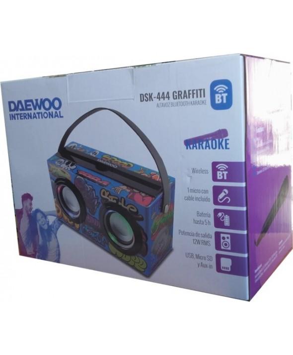 Altavoz multimedia bt karaoke 12w daewoo