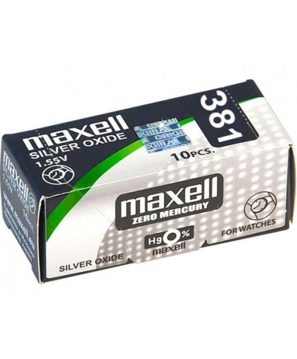 Pila ox de plata 1.55v (sr1120sw) 381 maxell