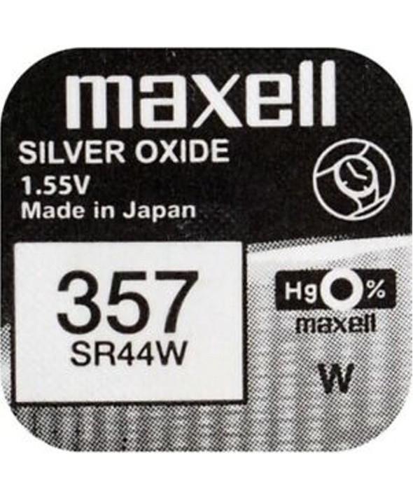 Pila ox de plata 1.55v (sr44w) 357 maxell