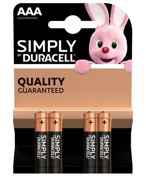 Pila alcalina lr-3 duracell simply nm2400 4 unidades