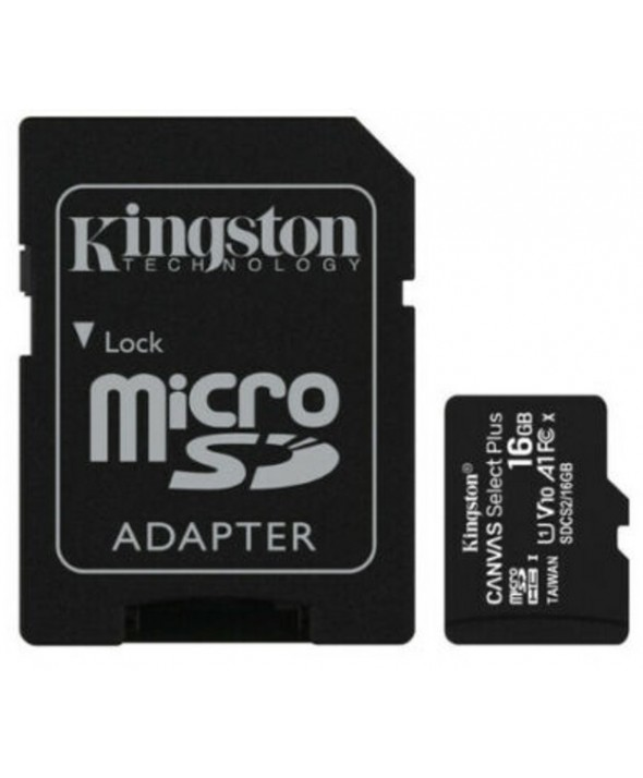 Memoria microsdhd 16gb 100mb/s+adaptador sd kingston