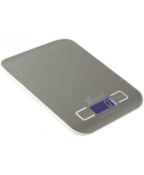 Bascula de cocina 1 g a 5 kg acero thulos