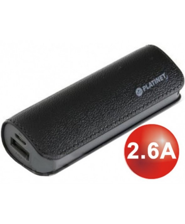 Bateria universal usb 2600 mah platinet cuero negro