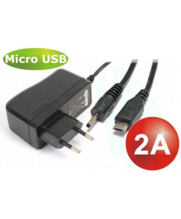 Cargador movil+tablet micro usb+jack 2.5 (2a)