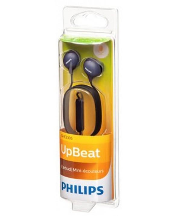 Auricular boton m/l philips upbeat negro