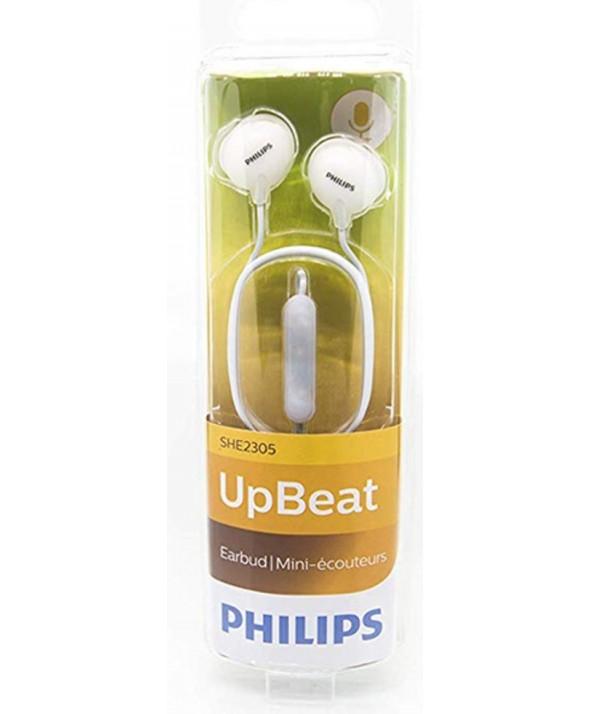Auricular boton m/l philips upbeat blanco