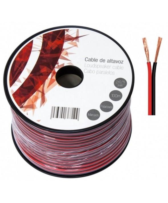 Rollo 100m cable 2x0.75mm rojo/negro