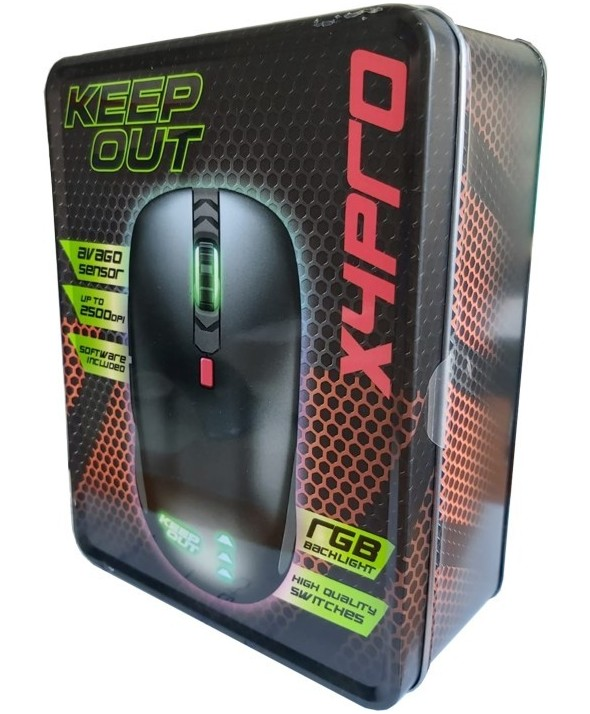 Raton optico gaming 2500dpi approx - keep out