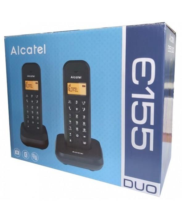 Telefono inalambrico duo alcatel negro