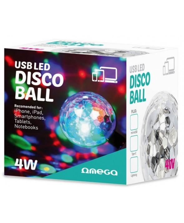 "Disco ball led usb tipo ""c"" 4w"