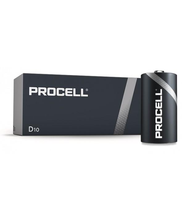 Pila alcalina lr20 procell-industrial caja 10 ud.