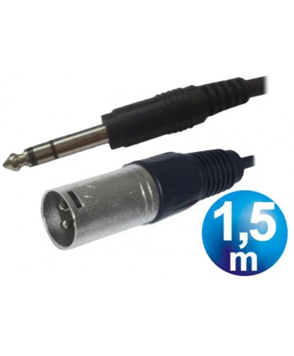 Conex.audio jack 6.3 st/m a canon/m 1.5m
