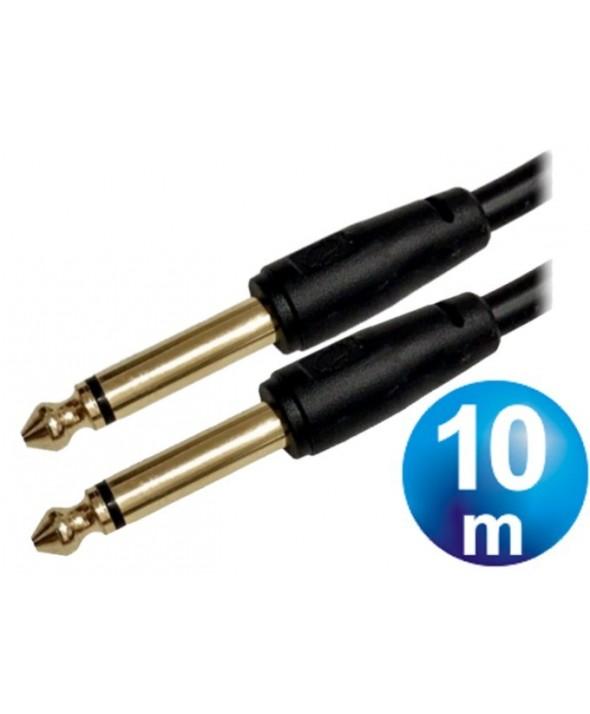 Conexion 6.3 m/m mono 10 m microfono