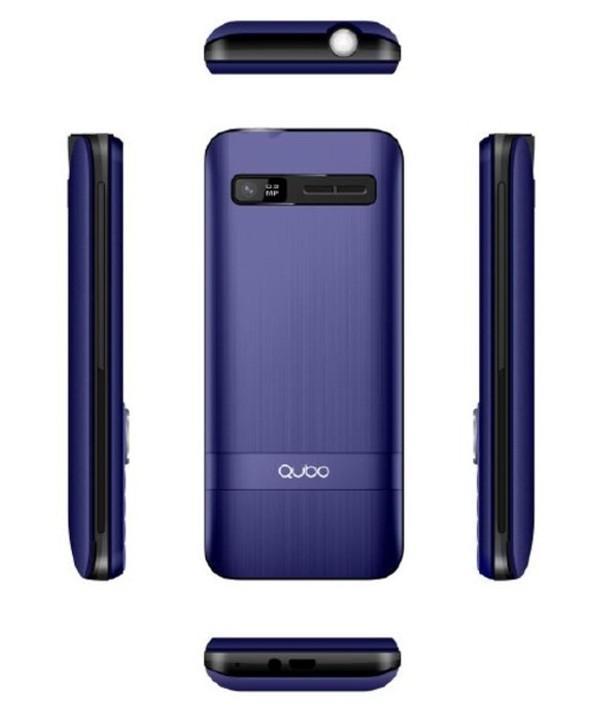 "Telefono movil qubo 2.4"" 2 simm 32mb 2500mah gris/azulz"