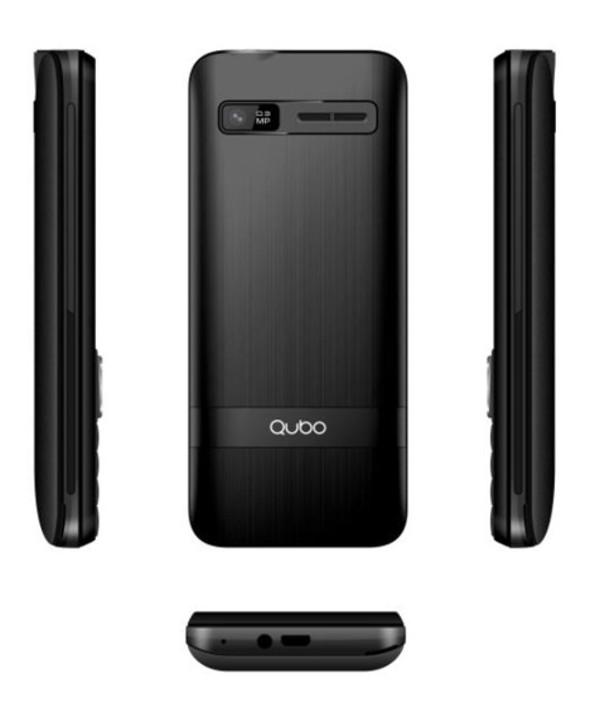 "Telefono movil qubo 2.4"" 2 simm 32mb 2500mah negro"