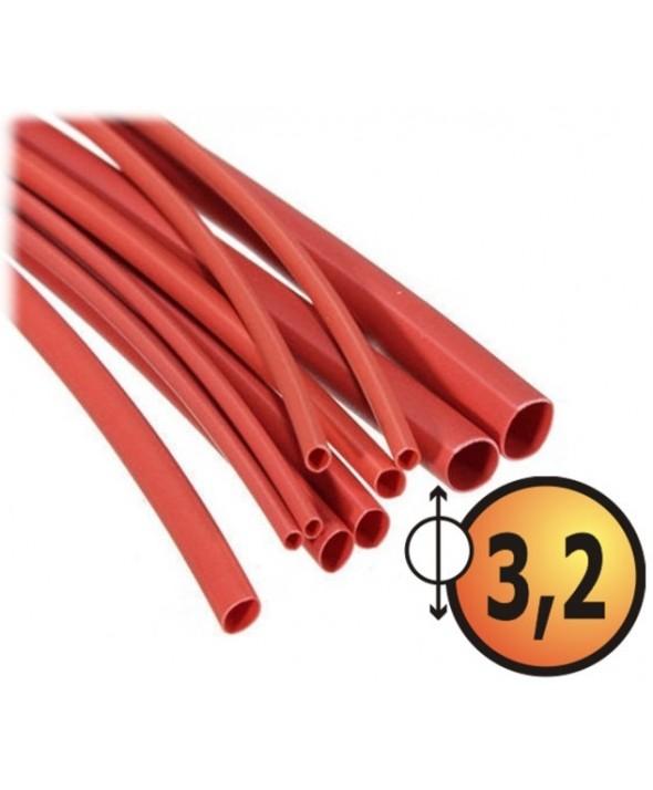 Funda termo retractil 3.2mm (10 unidades) 1m roja