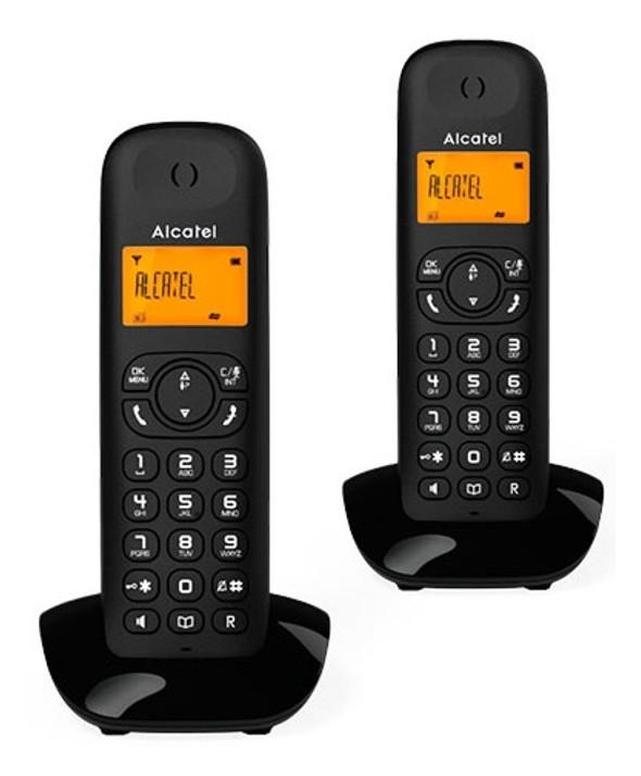 Telefono inalambrico duo alcatel manos libres negro