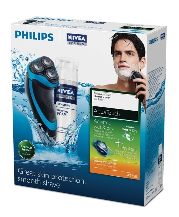 Afeitadora philips recargable aqua touch
