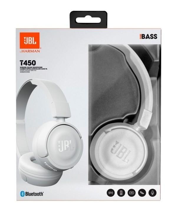 Auricular diadema jbl pure bass blanco