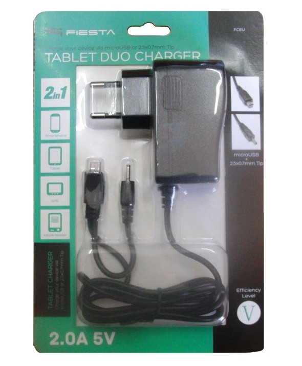 Cargador movil+tablet micro usb+jack 2.5 (2a)