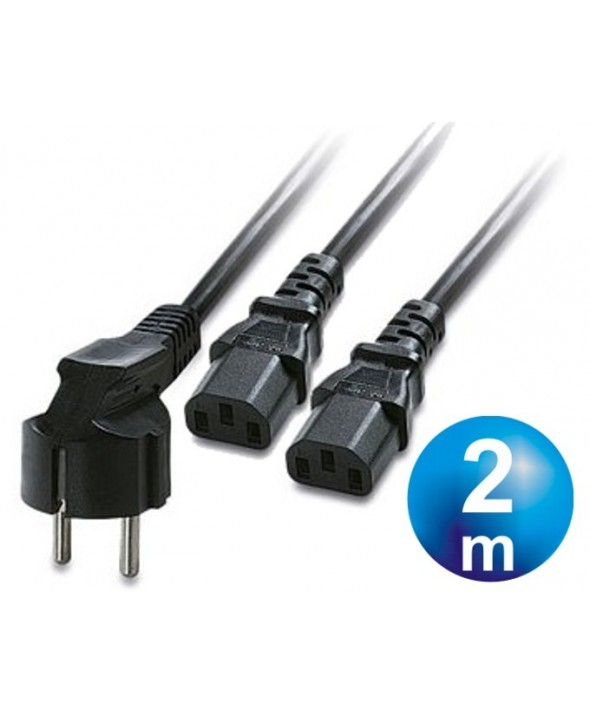 Cable alimentacion red-2xcpu cable 2m