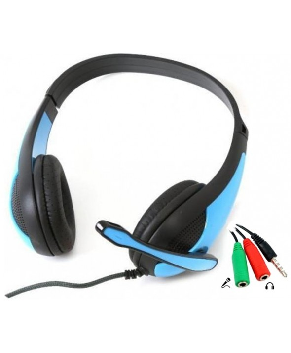 Auricular cupula gaming pc+ps4 freestyle azul