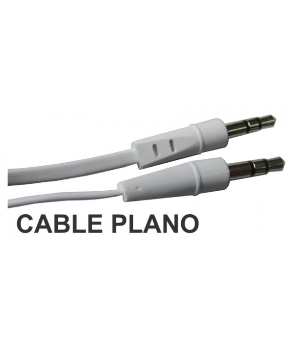 Conex.audio jack 3.5mm m/m st plano 2.5m blanco