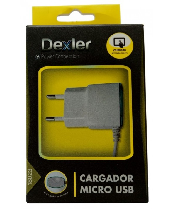 Cargador red usb 2.1 a micro usb cable 1m