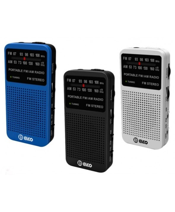 Radio am/fm altavoz y auriculares colores elco