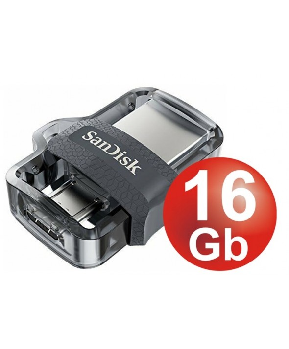 Pen driver 16 gb dual driver m3.0 130 mb/s sandisk