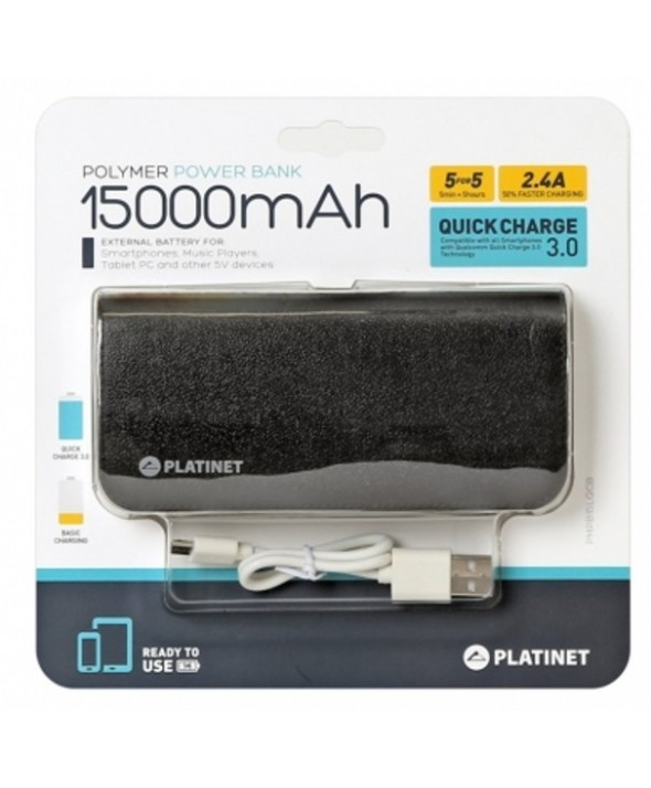 Power bank 15000 mah platinet polymero 2xusb