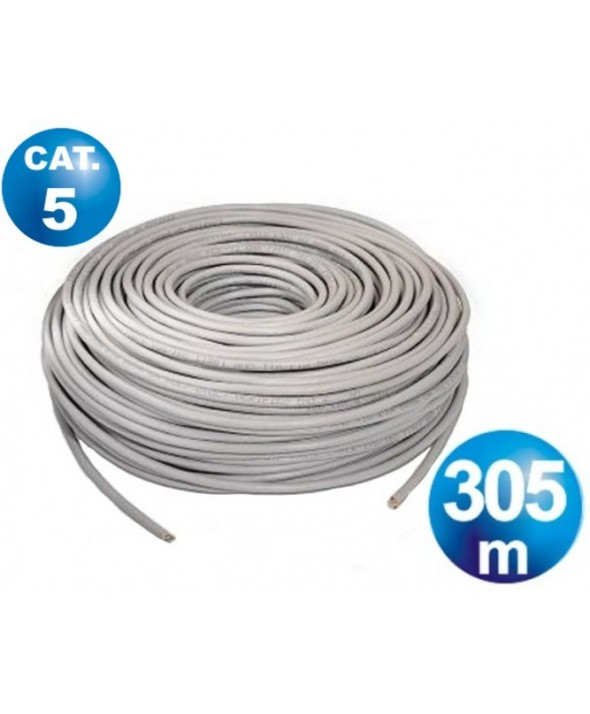 Bobina 305 m cable telefonico cat.5 utp rigido