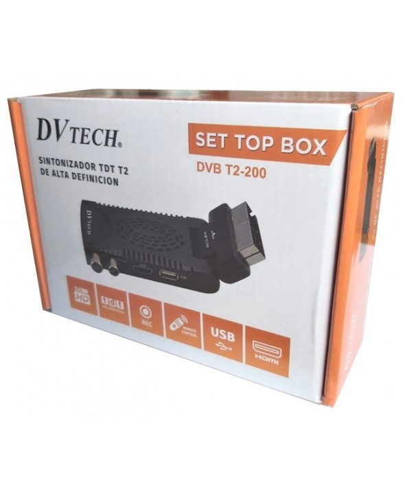 Tdt mini usb articulado dv tech dvb t2-200