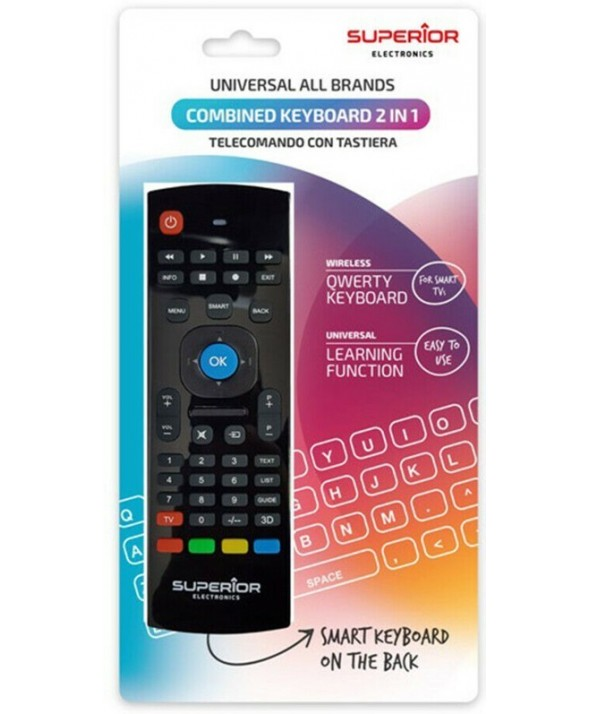 Mando universal superior smart tv + teclado
